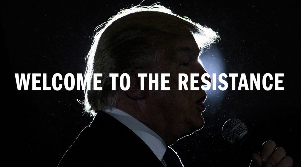 Join the resistance to Trump